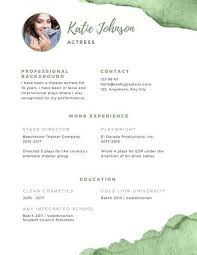 acting resume templates 70 best resume images on infographic resume resume