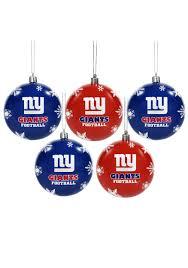 nfl new york giants ornament set
