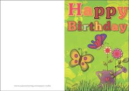 printable birthday card decorations green happy birthday card with butterflies free printable