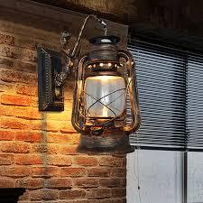 Lantern Wall Sconce European Style Vintage Loft Lustre Kerosene Lantern Wall Sconce