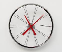 bike wheel clock large wall clock cyclist gift unique wedding