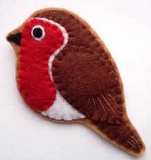 robin felt bird brooch 14 00 via etsy crafts felt birds
