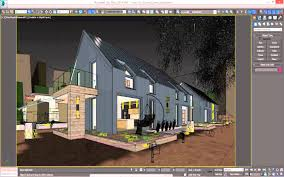 3d Max Home Design Tutorial by 3d Model Of Vray Night Scene Rendering Modern House Tutorial