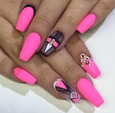 matte queen nailsbymztina coffin nails pink and nail nail