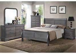 Dresser As Nightstand Mack U0027s Furniture Warehouse Louis Gray Queen Sleigh Bed W Dresser