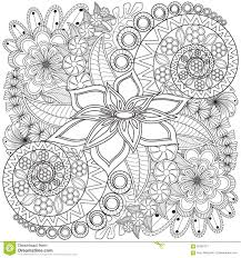 flower swirl coloring page pattern stock photo image 65390751