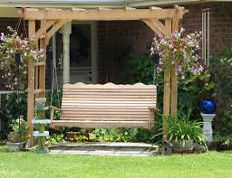 Pergola With Swing by Arbor With Swing Carter U0027s Cypress Crafts Llc