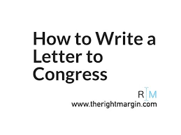 how to write a letter to congress with therightmargin youtube