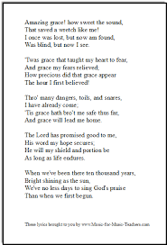 printable lyrics amazing grace lyrics printable downloadable pdf books worth