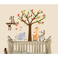 Wall Decals For Boys Nursery by Animal Wall Decals With Giraffe Wall Decor For Kids Rooms