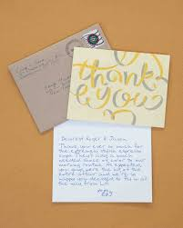 Wedding Gift Thank You Notes Creative Ways To Say Thank You You U0027re Welcome Martha Stewart
