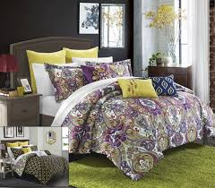 Paisley Comforters Purple Paisley Bedding Chic Home 8 Piece Paisley Global Inspired