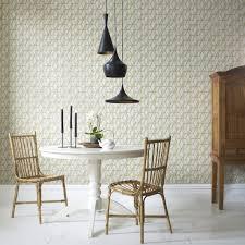 Contemporary Kitchen Wallpaper Ideas Gray Bathroom Features Upper Walls Clad In Schumacher Birds And