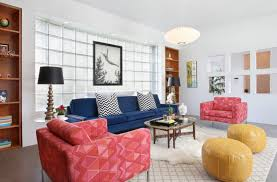 Mixing Leather And Fabric Sofas by Cool Leather Pouf In Living Room Contemporary With Low Couch Next