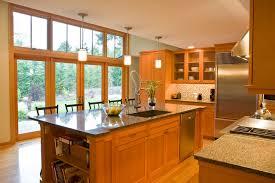 vertical grain fir kitchen cabinets northwest contemporary kitchen