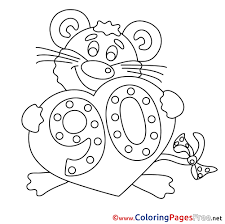coloring pages happy birthday 90 years coloring sheets happy birthday free