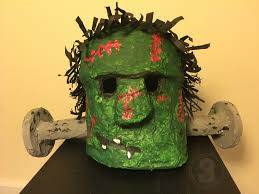halloween paper mache masks frankenstein halloween mask