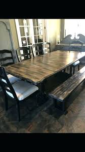 Dining Room Table Bench Farmhouse Dining Set With Bench And Chairs Black Farmhouse Dining