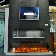 Fire Sense Electric Fireplace - contemporary stainless steel electric fireplace northwest 36 with