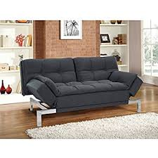 grey tweed sofa amazon com lifestyle solutions serta boca convertible sofa in