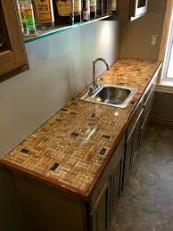 Counter Top by Wine Cork Counter Top In A Herringbone Pattern Wine Crafts