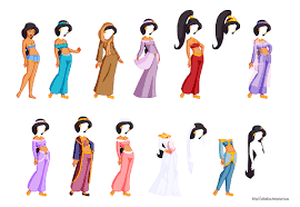 disney paper dolls 1 jasmine by aiboukou on deviantart