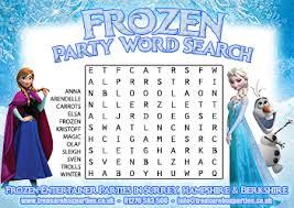 free printable frozen movie wordsearch childrens entertainer