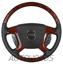 gmc sierra steering wheel light replacement wood leather oem steering wheel for 2007 2008 2009 accessory trim