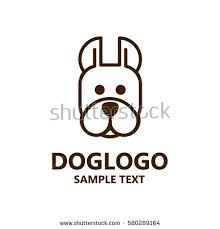 illustration cute dog logo vector dog stock vector 585128986