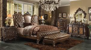 acme 4 piece versailles bedroom set in 2 tone light brown usa versailles bedroom set light brown collection