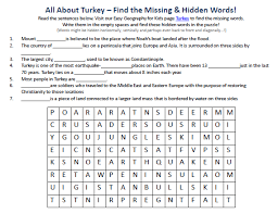 printable pictures of turkey the country image of turkey worksheet free printable geography word games for