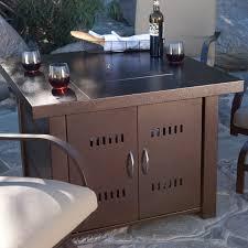industrial patio furniture outside propane heaters standing desk hack saarinen tulip table