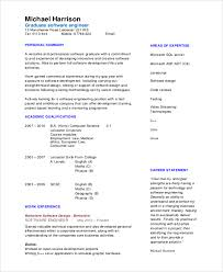 sample software engineer resume 8 examples in word pdf