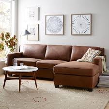 Leather Sofa Chaise Lounge Build Your Own Henry Leather Sectional Pieces West Elm