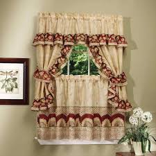 Walmart Mainstays Curtains Ideas And Pictures Lace Red Kitchen Curtains Walmart Home Design