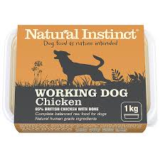 working dog food raw chicken natural instinct raw dog food
