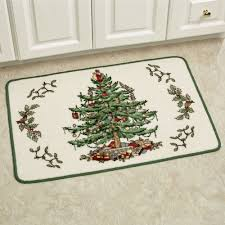Christmas Bathroom Rugs Spode Christmas Tree Bath Rug