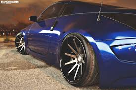 Nissan 350z Blue - nessen forged turbo nissan 350z stancenation form u003e function