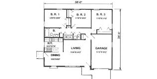 ranch style floor plans ranch style house plan 3 beds 1 00 baths 1008 sq ft plan 116 153