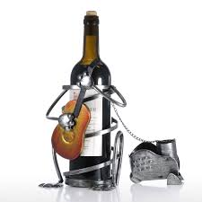 best and cheap black puppy wine rack with guitar iron animal