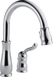 single handle pulldown kitchen faucet delta leland single handle pull standard kitchen faucet