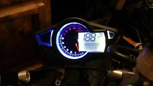 cheap cbr 600 chinese replica of koso rx1 gauge test on my 2004 honda cbr 600