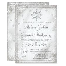 snowflake wedding invitations winter wedding invitations zazzle