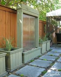 diy outdoor water wall the interior frugalista diy outdoor