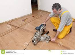 Washing Machine On Laminate Floor Laminate Flooring Of Room Batten Cuting Stock Photo Image 48497511