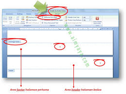 cara membuat nomor halaman yang berbeda di word 2013 cara membuat nomor halaman pertama dibawah dan halaman berikutnya