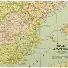 Spain And Portugal Map by Map Spain U0026 Portugal 1885 Original Art Antique Maps U0026 Prints