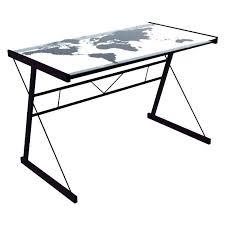 plateau verre bureau plateau verre trempe bureau trempac en conforama side ikea bim a co