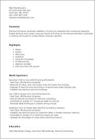 Resume Templates And Examples by Professional Electrical Contractor Templates To Showcase Your