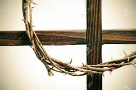representation of the crown of thorns and the cross of jesus